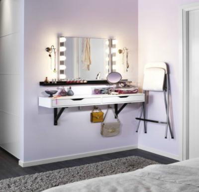 Использование туалетного столика в комнате