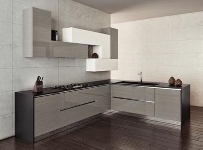 Отличное решение: кухня в серых цветах