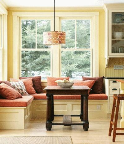 Где можно посидеть в зоне кухни?