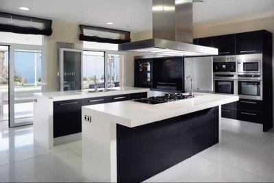 Кухонная барная стойка из кварцевого камня от компании Kvarz-kam