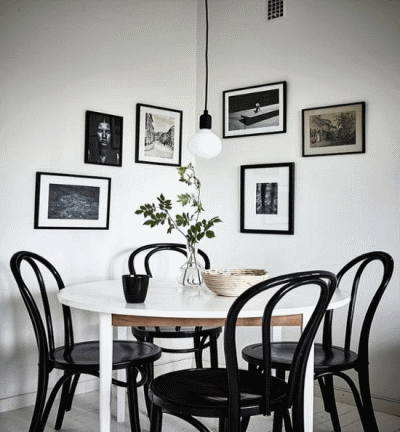 Обустройство столовой зоны в интерьере гостиной