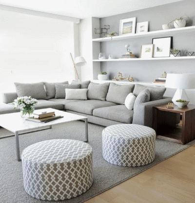 Парочка советов для обустройства небольшой гостиной