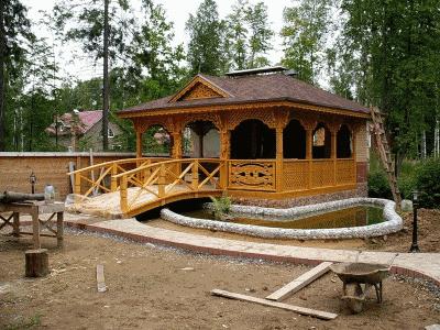 Продажа оригинальных деревянных дачных беседок в Московской области