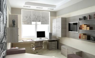 Создаем стильный интерьер домашнего кабинета