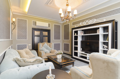 Вариант гостиной в стиле прованс