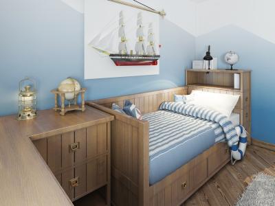 Воплощаем идею морского стиля для детской комнаты