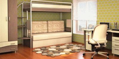 Эргономика детской – место двухъярусной кровати